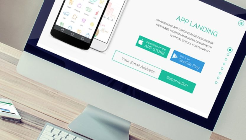 4 Bootstrap Website Templates are Perfect Landing Page of Your Mobile Application