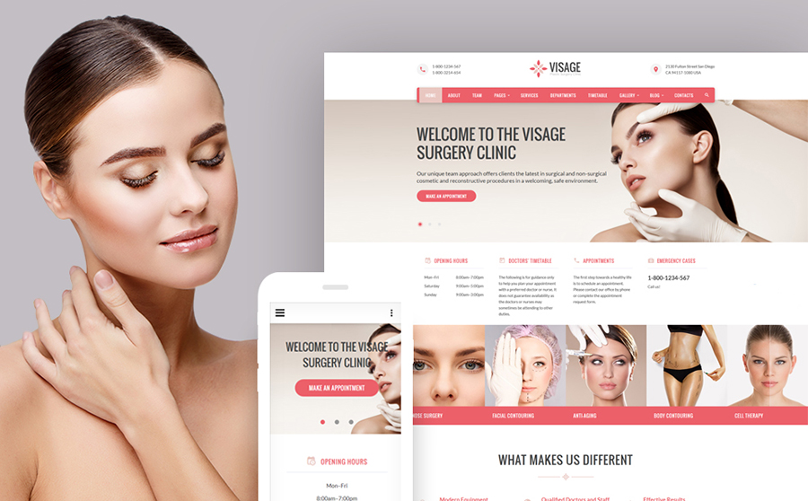 Visage - Plastic Surgery Clinic Web Template