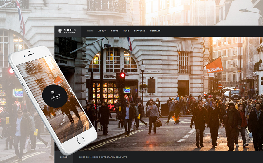 Soho - Photographer Portfolio Bootstrap Template