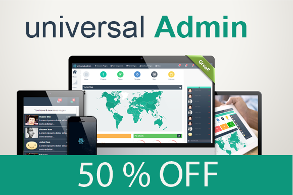 Bootstrap theme Universal Admin-Responsive template