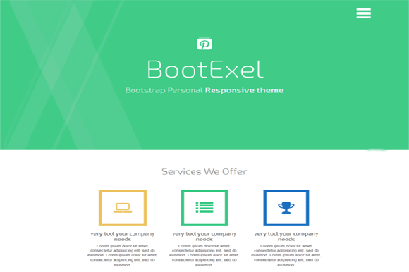Bootstrap theme BootExel