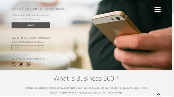 Bootstrap theme Business-360° :Responsive Template