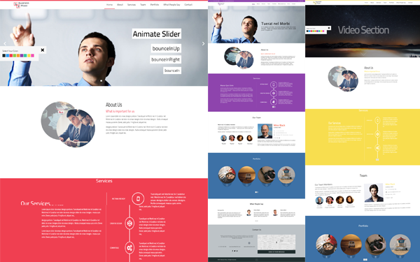 Bootstrap theme Pluso: Business website template