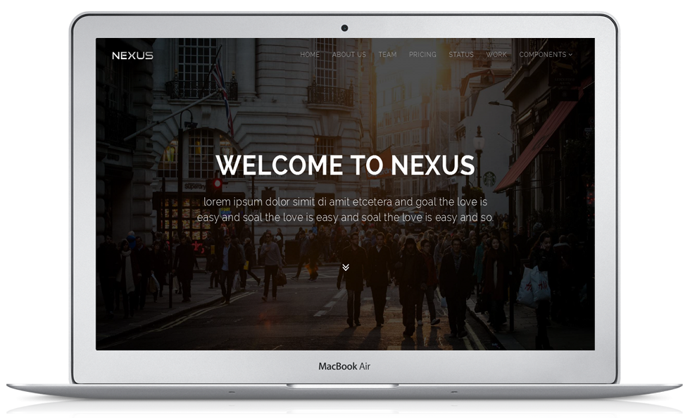 Bootstrap theme Nexus- Responsive Website Template