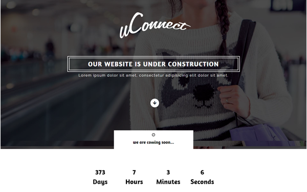 Bootstrap theme uconnect- coming soon web page