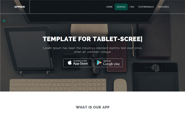 Bootstrap template & theme Appeen- Apps Landing Template