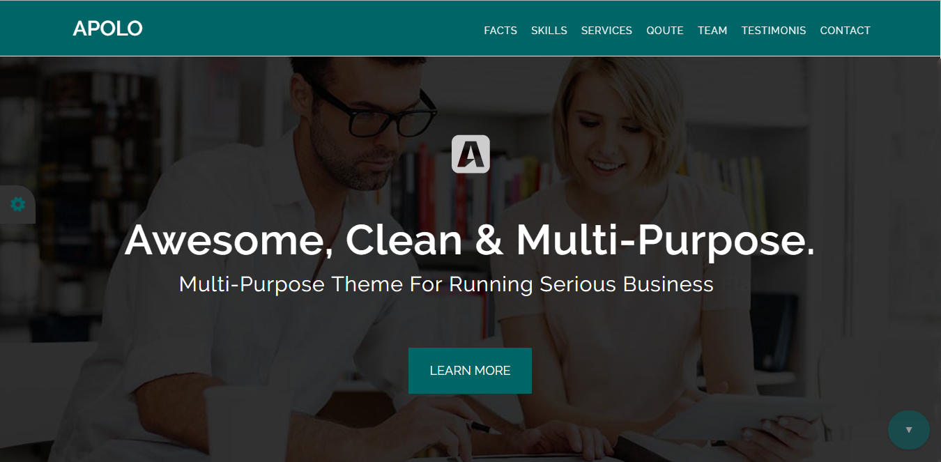 Bootstrap theme Apolo: Multi-Purpose Theme For Running Serious Business