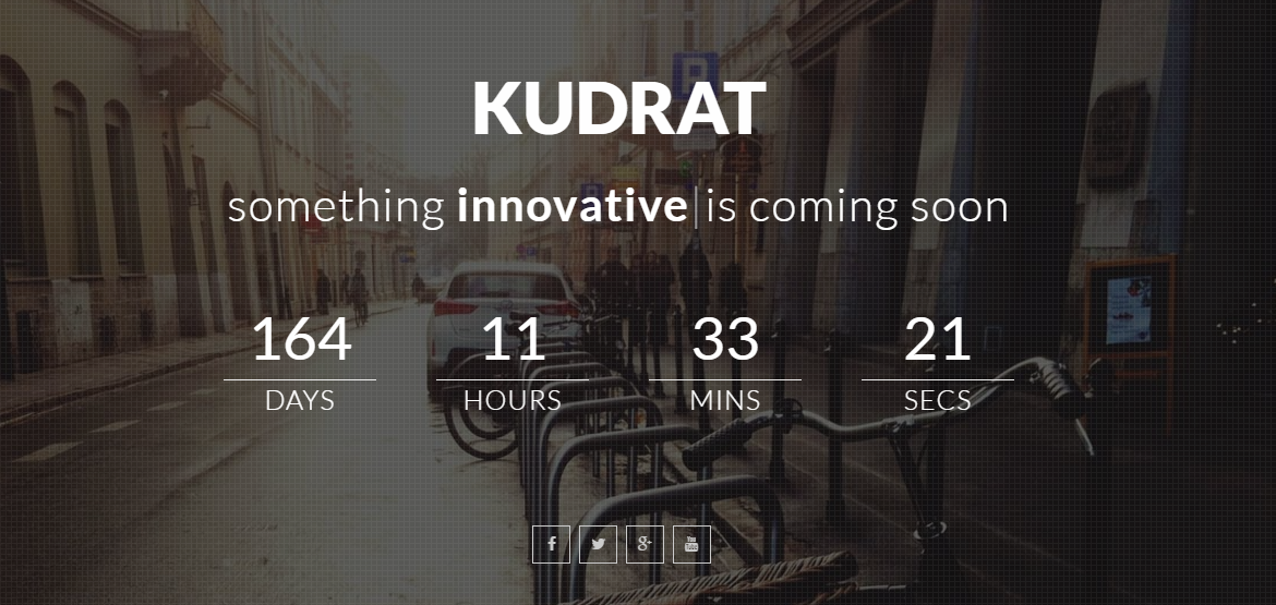 Bootstrap theme Kudrat: Coming Soon Template For Business