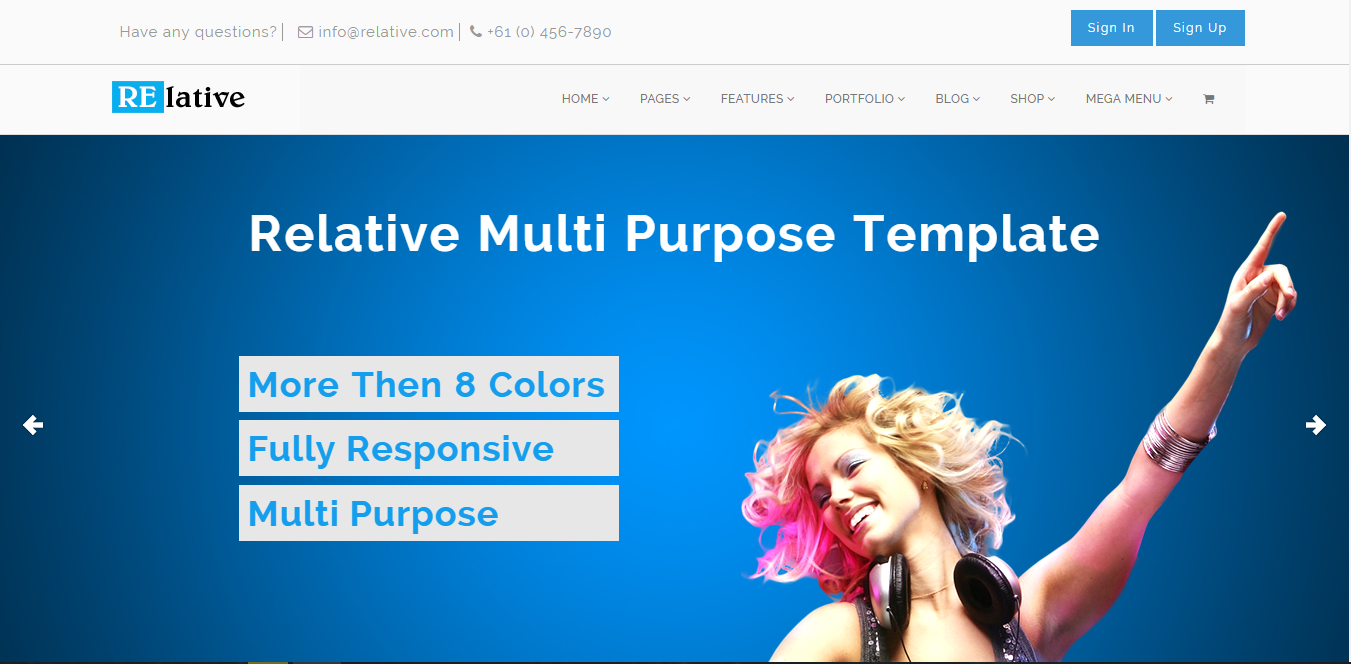 Bootstrap theme RE-lative: A Multi-Purpose Template