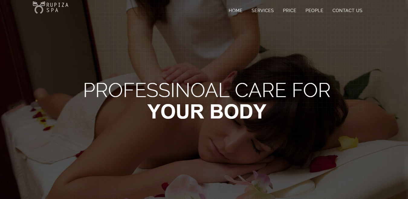 Bootstrap theme Rupiza: An Online Massage & Therapy Centre