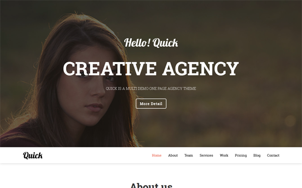 Bootstrap template Quick - Agency & Portfolio - 6 Layouts