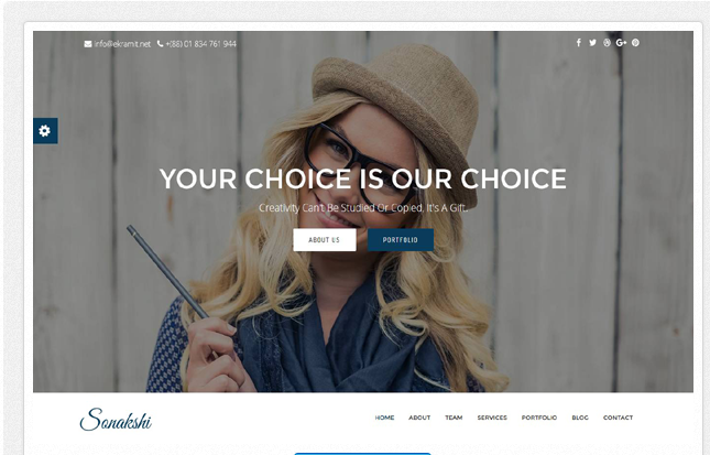 Bootstrap theme Sonakshi - Creative One Page Template