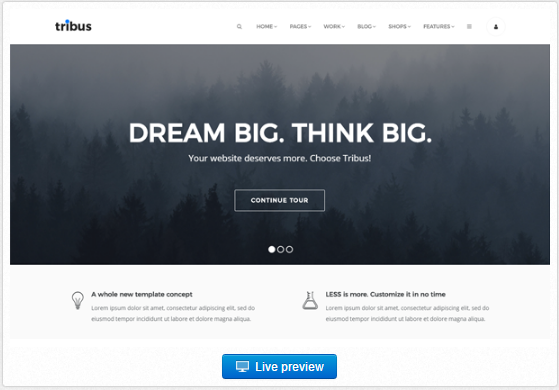 Bootstrap theme Tribus - Multipurpose Template