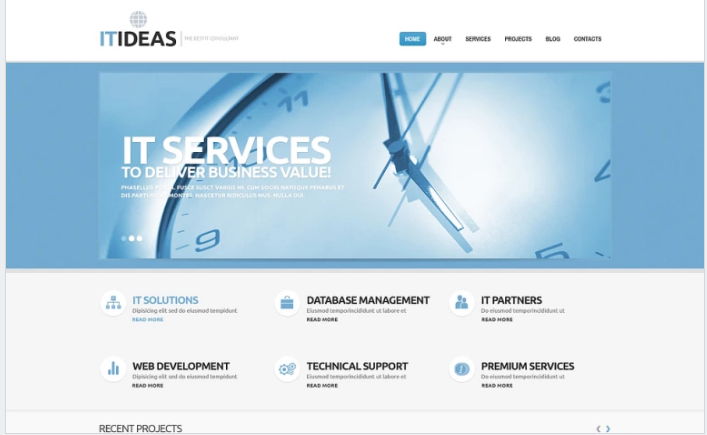Bootstrap template IT Consulting WordPress Theme