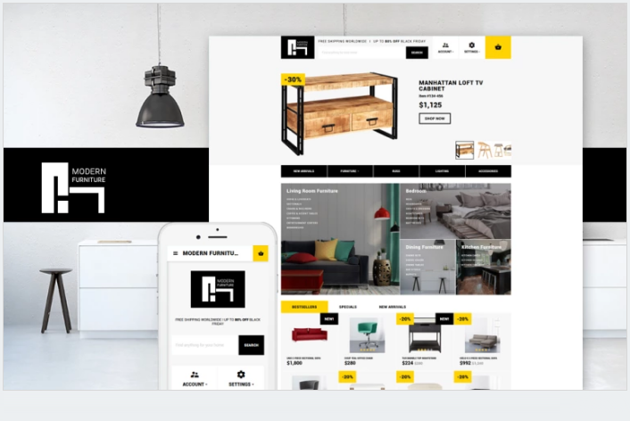 Bootstrap theme Modern Furniture - Interior & Home Decor Responsive OpenCart Template