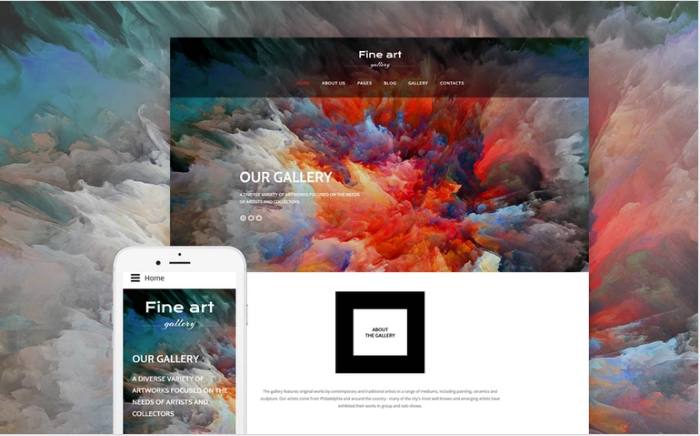 Bootstrap theme Fine Art - Art & Culture Gallery Responsive Joomla Template