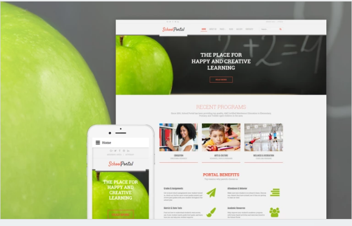 School Portal Educational School Portal Responsive Joomla Template