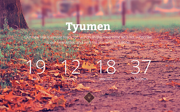 Bootstrap template Tyumen - Coming Soon Template