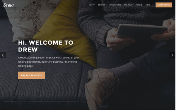 Bootstrap theme Drew - All in One Marketing Landing Page