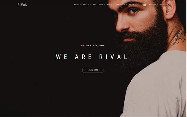 Bootstrap theme Rival - Responsive Multipurpose Template
