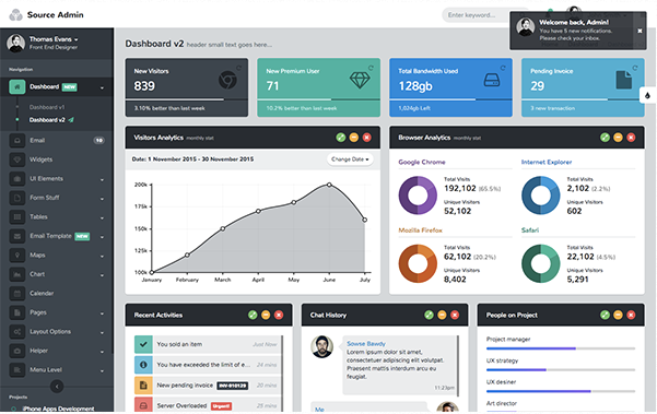 Bootstrap theme Source Admin - Bootstrap Admin Template