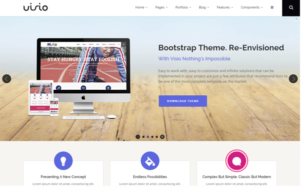 Bootstrap theme Visio - Responsive Website Template