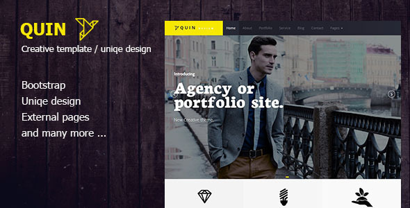 Bootstrap theme  Quins - BS Creative Wordpress Themes