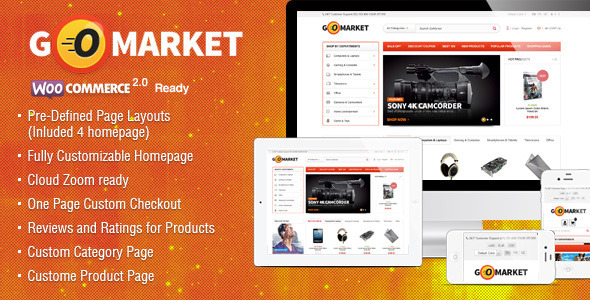 Bootstrap template  WooCommerce Supermarket Theme - GoMarket