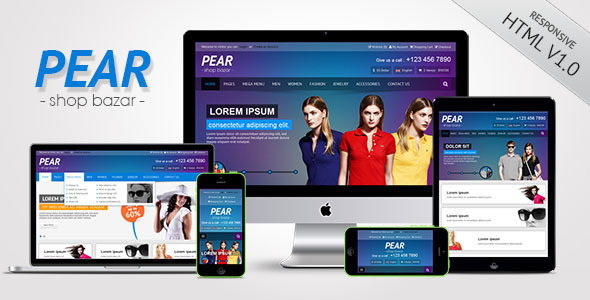 Bootstrap theme Pear