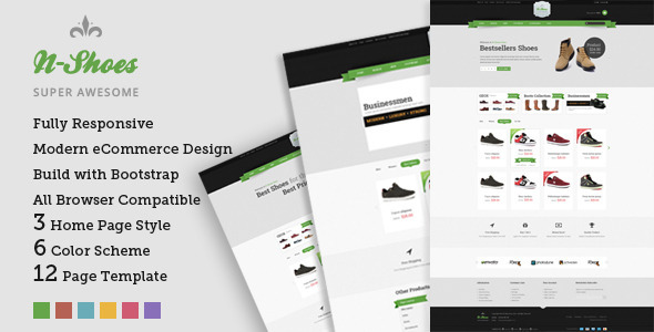 Bootstrap template N-Shoes – Premium Responsive HTML5 Store Template
