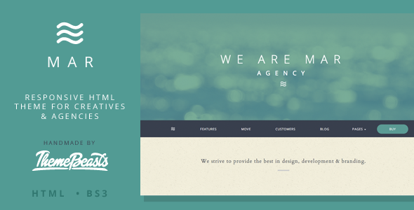 Bootstrap template Mar - Responsive HTML5 Theme