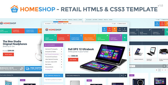Home Shop - Retail HTML5 & CSS3 Template Bootstrap responsive themes