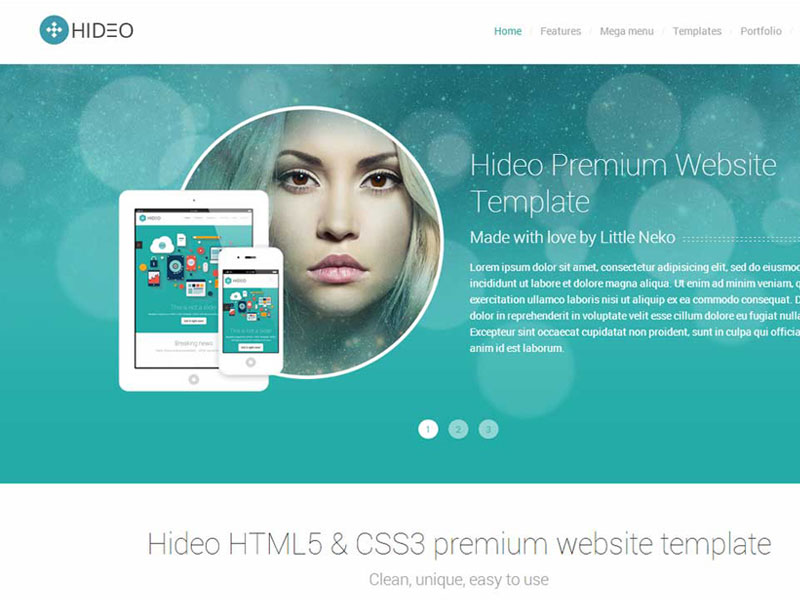 Bootstrap template  Hideo | HTML5 Bootstrap Website Template