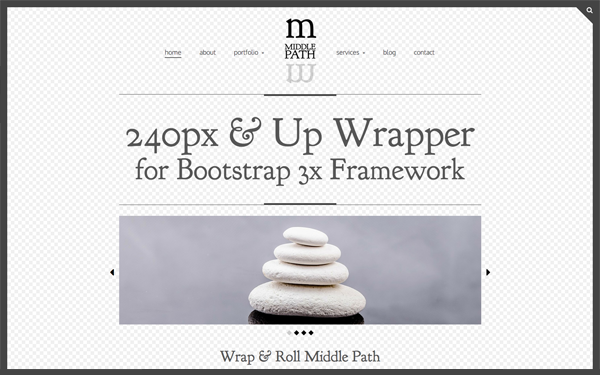 Bootstrap theme Middle Path 240px & Up Wrapper