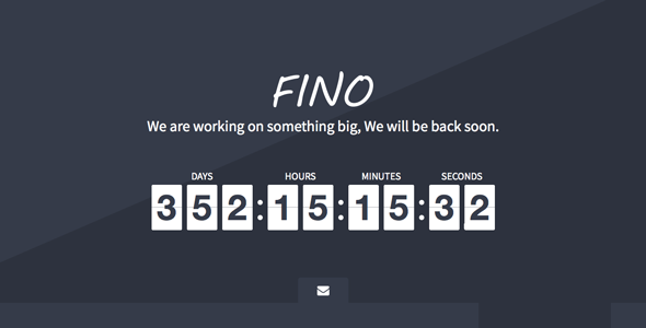 Bootstrap theme  Fino - Coming Soon Template