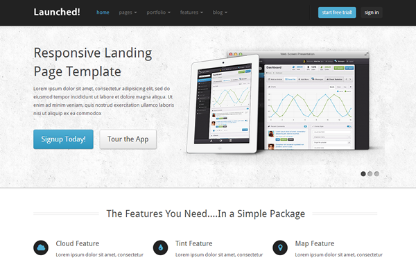 Bootstrap theme Launched! - Responsive Website Template