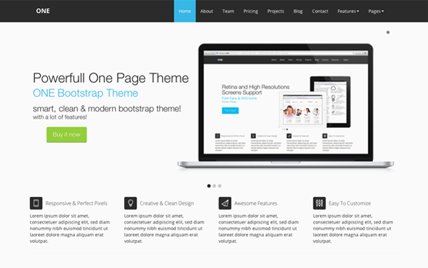 Bootstrap theme ONE Bootstrap Theme