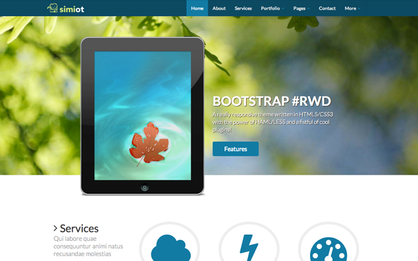 Bootstrap theme Simiot - Responsive HAML+LESS Theme