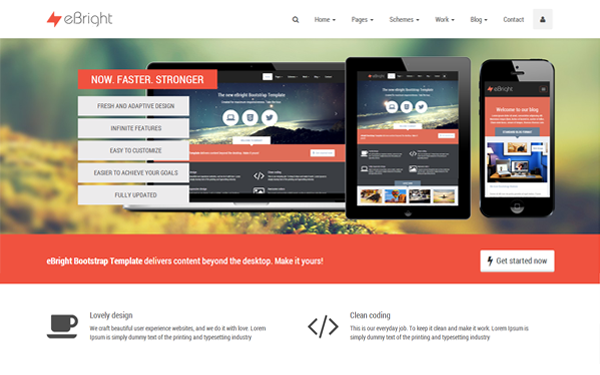 Bootstrap theme eBright Bootstrap Template