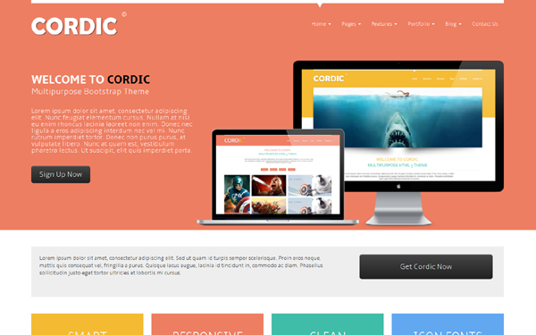 Responsive bootstrap templates themes bootstrap360 bootstrap theme cordic multipurpose bootstrap theme accmission Image collections