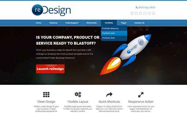 Bootstrap theme reDesign Multi-Purpose Business Theme