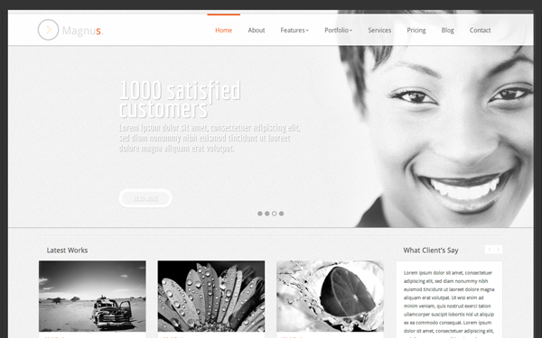 Bootstrap theme Magnus Responsive Business Template