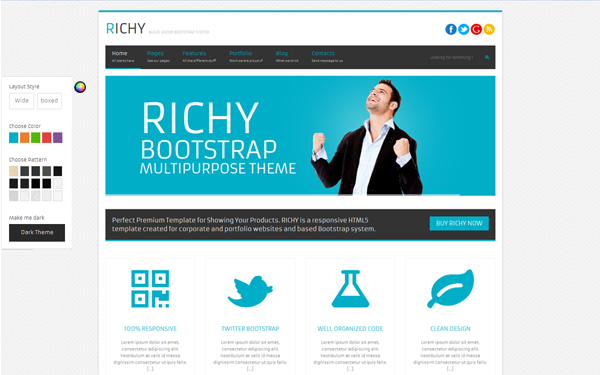 Bootstrap theme Richy - Multipurpose Bootstrap Theme