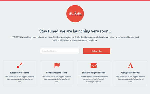 Bootstrap theme ITS BETA - Landing Page