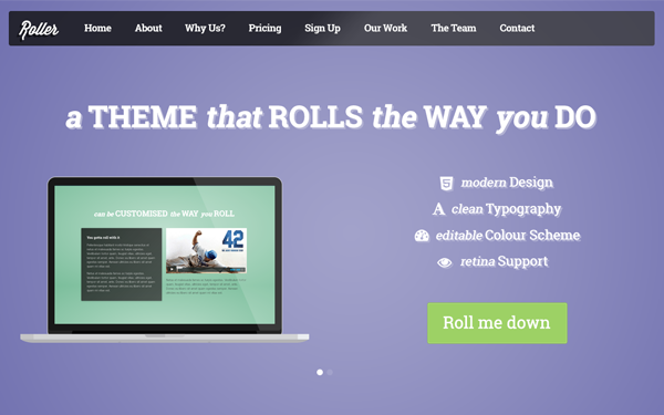 Bootstrap template Roller - Landing & Multi-Page Theme