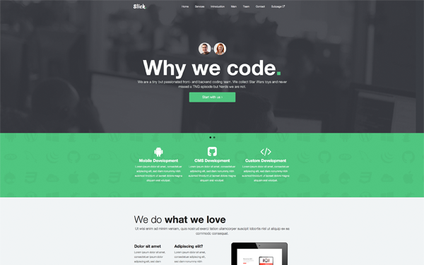 Bootstrap theme SLICK - One Page Theme
