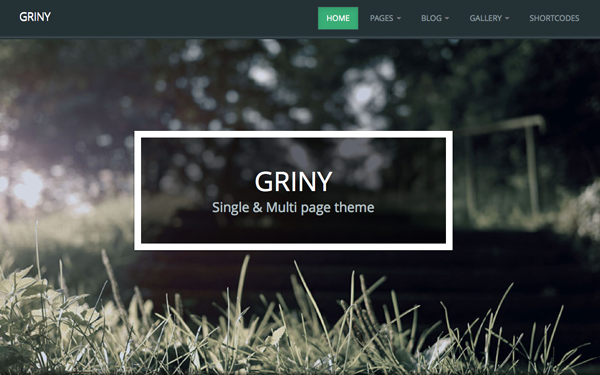 Bootstrap template Griny - Single & Multi Page Theme