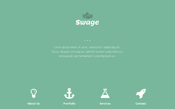 Bootstrap theme Swage - HTML5 Parallax Template