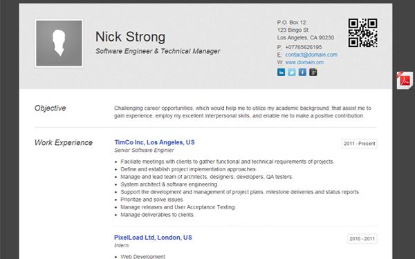 tomana minimalistic cv resume theme bootstrap responsive