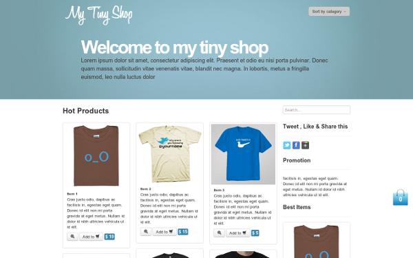 Bootstrap theme My Tiny Shop - E-Commerce Theme